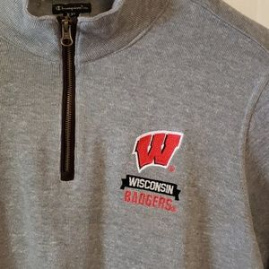 Champion Shirts - NWOT - Wisconsin Badgers 1/4 Zip Pullover